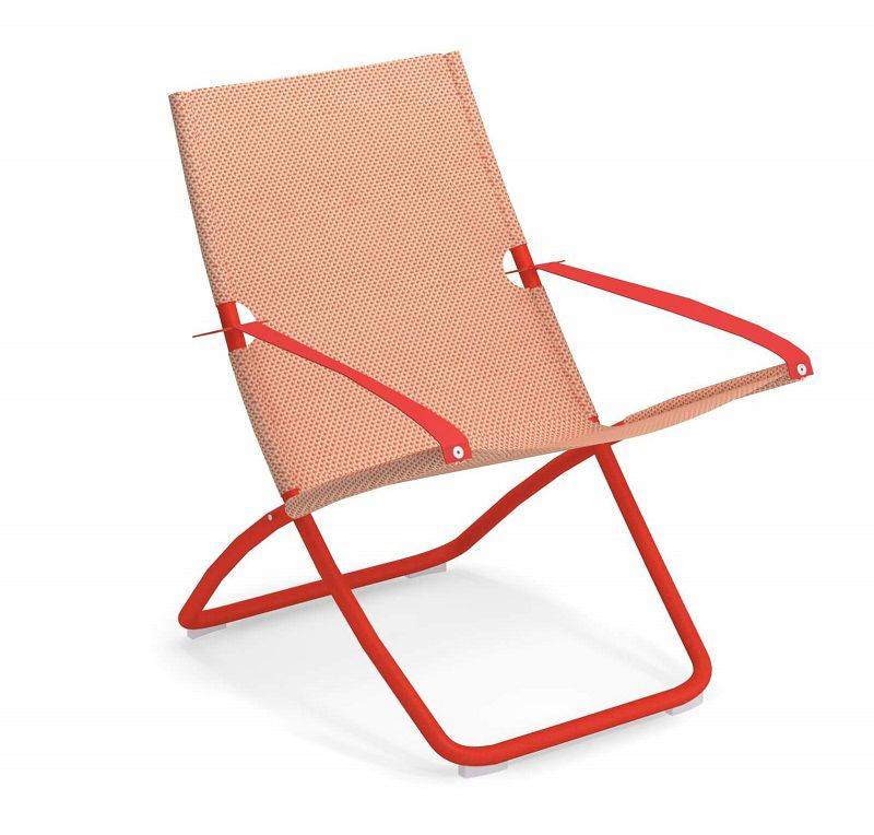 Fabulous Emu Snooze Deckchair Scarlet Red Peach Squirreltailoven Fun Painted Chair Ideas Images Squirreltailovenorg