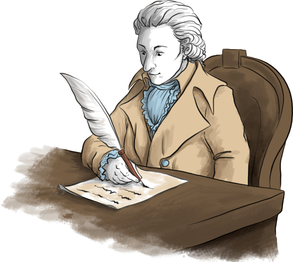 Der berühmte Dichter Schiller