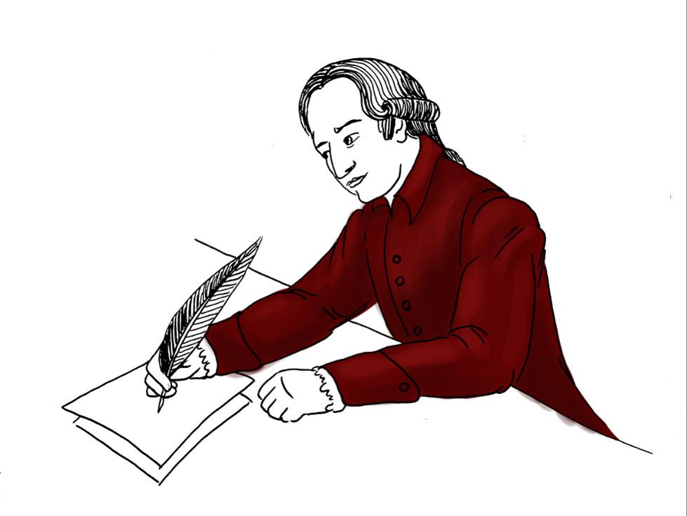 Goethe am Schreibtisch