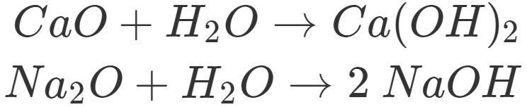 Entstehung von Basen aus Metalloxiden