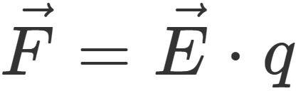 Elektrische Felder: Feldkraft F