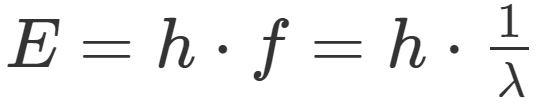 Quantenphysik: Energie eines Quants in Abhängigkeit von Frequenz und Wellenlänge