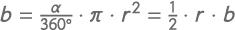 Formel zur Berechnung der Fläche eines Kreisausschnitts