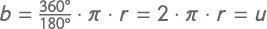 Formel zur Berechnung der Länge des Kreisbogens 360 Grad