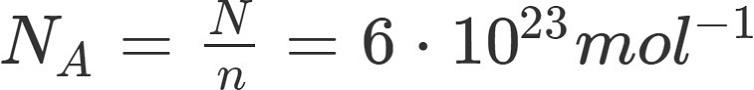 Berechnung zur Stoffmenge: Formel Avogadro Konstante