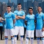Manchester city unveils 2013 2014 nike home kit in new york