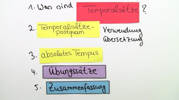 Temporals%c3%a4tze postquam