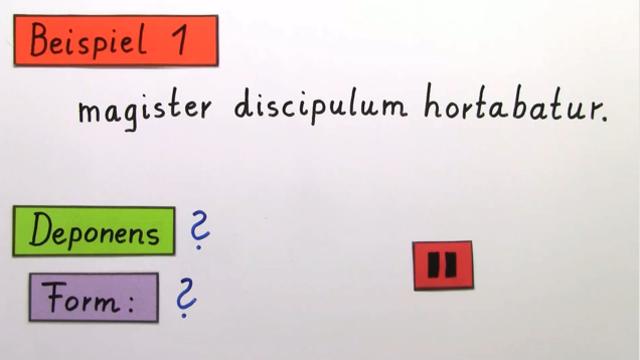 Deponentien (Übungsvideo)