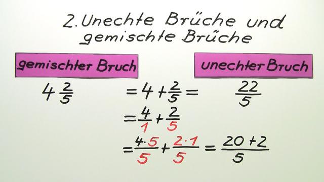 gemeine brüche in gemischte brüche umwandeln – mathematik online