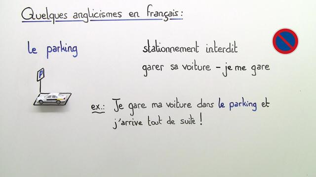 Anglicismes en français