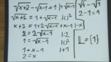 Wurzelgleichungen – Beispiel (2)