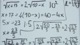 Wurzelgleichungen – Aufgabe (4)