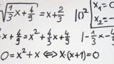 Wurzelgleichungen – Aufgabe (12)