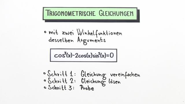 Gleichungen mit Sinus, Cosinus und Tangens mit zwei Winkelfunktionen desselben Arguments