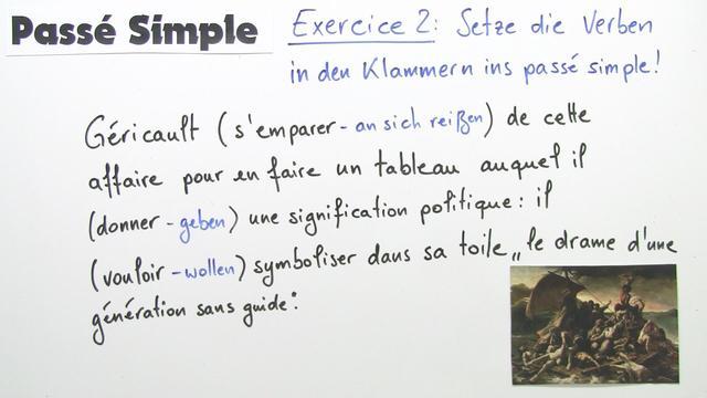 Passé Simple – Bildung (Übungsvideo)
