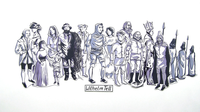 """""""Wilhelm Tell"""" – Personenkonstellation (Schiller)"""