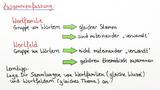 Wortfamilie und Wortfeld