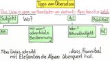 Tipps zum Übersetzen – die Satzstellung