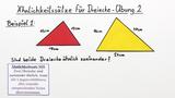 Ähnlichkeitssätze für Dreiecke – Übung (2)