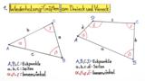 Winkelsummen in Dreiecken und Vierecken