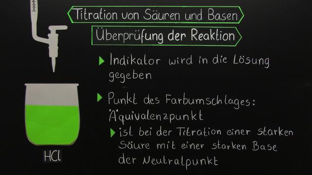 Titration - starke Säure mit starker Base