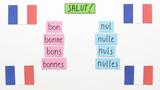 """Besondere Adjektive – """"bon"""" und """"nul"""""""