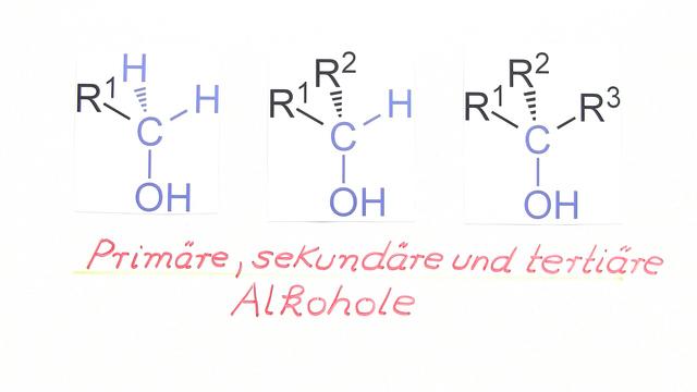 Primäre, sekundäre und tertiäre Alkohole