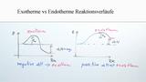 Exotherme und Endotherme Reaktionsverläufe