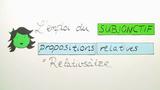 Subjonctif in Relativsätzen