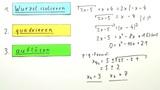 Lösen von Wurzelgleichungen – Vierschrittvefahren