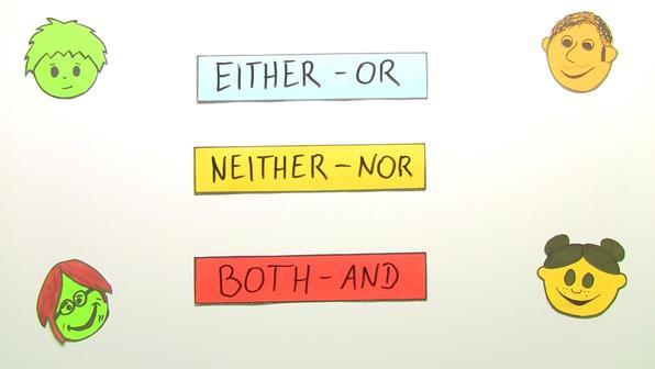 Either   or neither   nor both   and uebung vorschaubild
