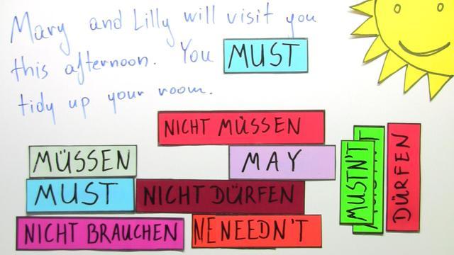 Modal Verbs: must, mustn't, needn't (Übungsvideo)