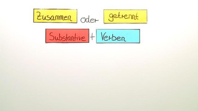 Getrennt- und Zusammenschreibung: Substantiv + Verb