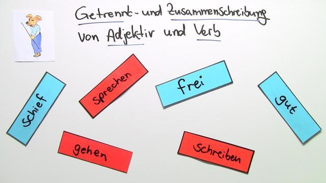 Getrennt- und Zusammenschreibung: Adjektiv + Verb