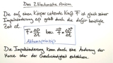 2. Newtonsche Axiom – Aktionsprinzip