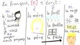 Besonderheiten bei Vokalen: die Laute [e] und [oe]