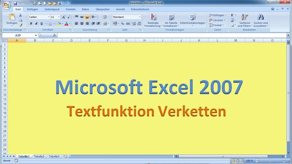 Lektion 22 excel 2007 verketten