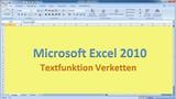 Lektion 22 Excel 2010 Verketten