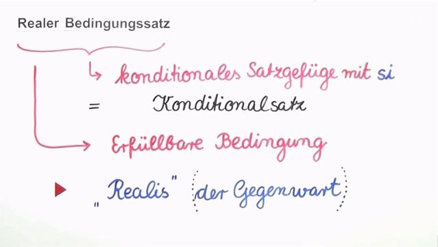 Si-Sätze – realer Bedingungssatz