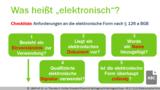 VR 3.7.6 (2) Was versteht man unter der elektronischen Form? - Begriffe