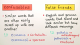 Confusables and False Friends (Übungsvideo)
