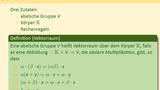 Vektorräume und Untervektorräume (Teil 1 von 3)