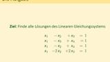 Gauß-Algorithmus – Beispiel mit vier Gleichungen und vier Unbekannten