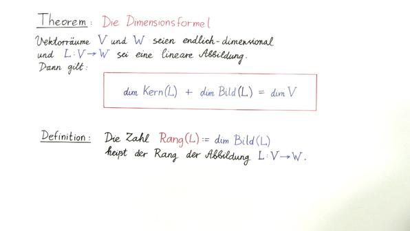 Vorschaubild theorie 3 kern  bild  rang und die dimensionsformel