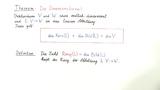 Theorie 3: Kern, Bild, Rang und Dimensionsformel