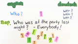 Question Words – Fragewörter