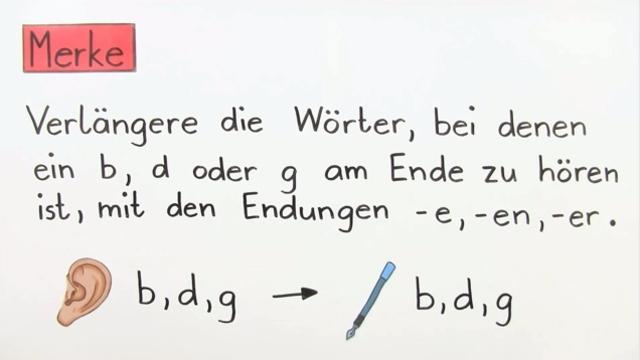 Wörter mit b,d oder g am Wortende