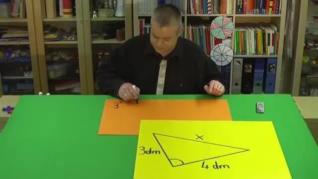 Satz des Pythagoras – Aufgabe 1 mit Zahlen (2)