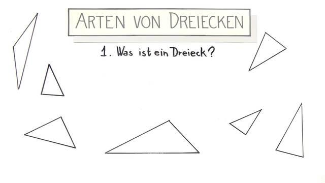 Arten von Dreiecken