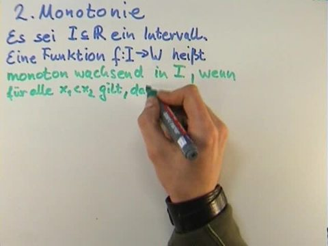 Monotonie einer Funktion
